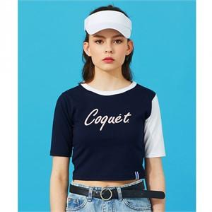 [코케트스튜디오] [ C.Q X QUENZY ] COQUET LOGO CROP T [NY]
