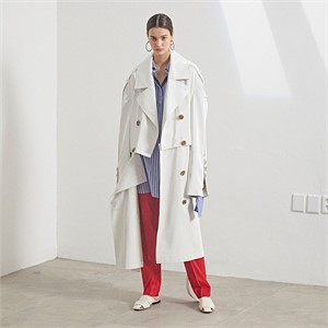 [MUSEE] Fieno Oversized Trench Coat _ White
