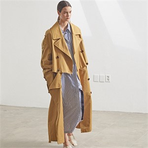 [MUSEE] Fieno Oversized Trench Coat _Mustard camel