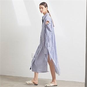 [MUSEE] Rhea sleeve detachable long shirt dress_BS