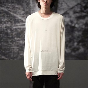 [노이어] Linen Lettering Knit Ivory