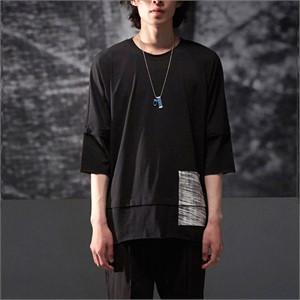 [노이어] Day-Dream Layerd T-shirts Black