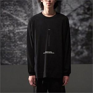 [노이어] Linen Lettering Knit Black