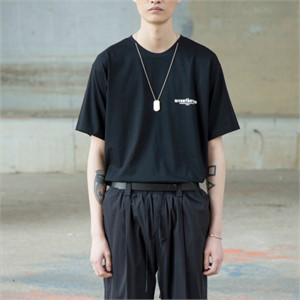 [노이어] Staff Chain T-shirts BLACK