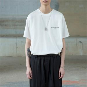 [노이어] Staff Chain T-shirts WHITE