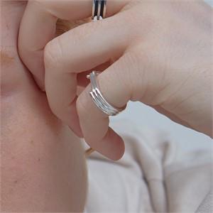 [090팩토리][실버,은반지] Mixed shape lines Ring