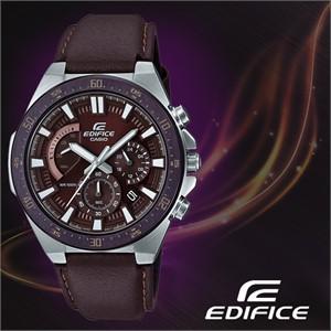 CASIO 카시오 에디피스 EFR-563BL-5A 가죽밴드 남성시계 손목시계