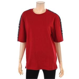 TBJ NC02 유니 소매테이프 루즈핏 티셔츠 T182TS040P
