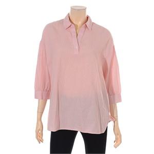 TBJ NC02 여성 7부 스트라이프 셔츠 T183SH510P