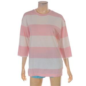 TBJ NC02 7부 스트라이프 티셔츠 T172TS051P