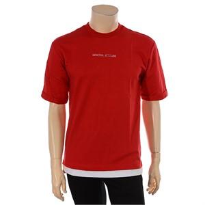 TBJ NC02 5부 밑단 레이어드 티셔츠 T172TS070P