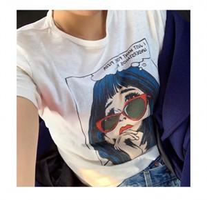[지에르] 프린팅 티셔츠 ( 화이트 ) / ( S M L 사이즈 )