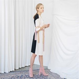 [누팍] 블록 스트랩 드레스