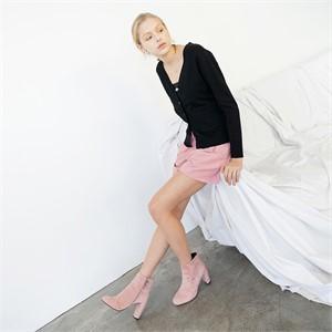 [누팍]  하이웨이스트 쇼츠 - 핑크