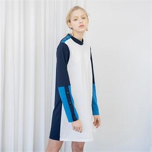 [누팍] 블록 미니 드레스