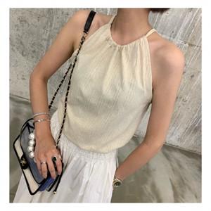 [지에르] sleeveless string TOP ( 베이지, 네이비 )
