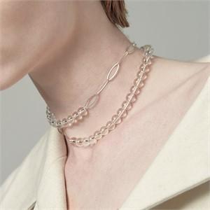 [090팩토리][실버,은목걸이] Expand thread Necklace