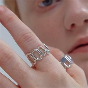 [090팩토리][실버,은반지] Repeated oval Ring
