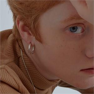 [090팩토리] Circle lines Earring(Silver,Gold)