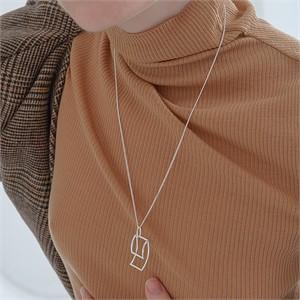 [090팩토리] Folded tape Necklace(Silver,Gold)