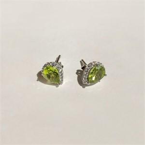 [제이블링] 8월 탄생석 반지! 스퀘어 페리도트 큐빅반지