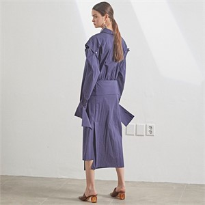 [MUSEE] Selene Shirt Dress_Navy