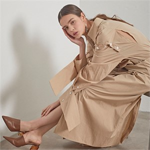 [MUSEE] Selene Shirt Dress _Rose beige