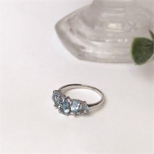 [제이블링] 11월 탄생석 반지! 블루토파즈 컷 반지