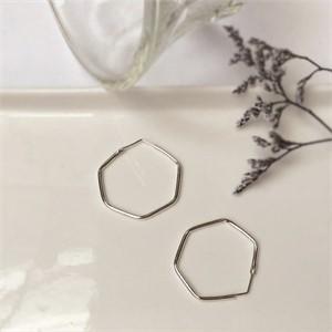 [제이블링] 데일리 링 귀걸이 추천! 육각 귀걸이