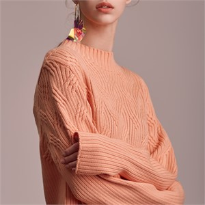 [블리다] peach chain knit top