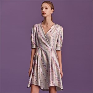 [블리다] unicorn rainbow v-neck dress