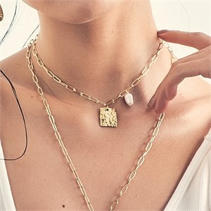 [엘리오나] Square Paved Necklace