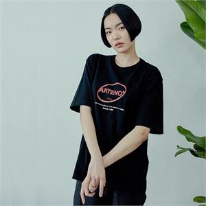[아르테노] 20s Oversize symbol t-shirt-BLACK