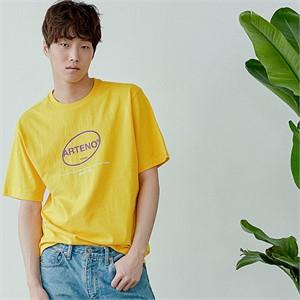 [아르테노] 20s Oversize symbol t-shirt-YELLOW