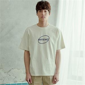 [아르테노] 20s Oversize symbol t-shirt-L/BEIGE