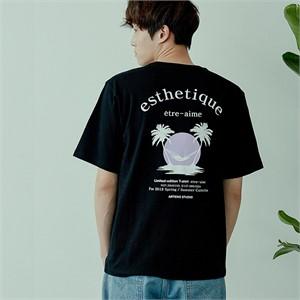 [아르테노] 20s Oversize esthetique t-shirt-BLACK