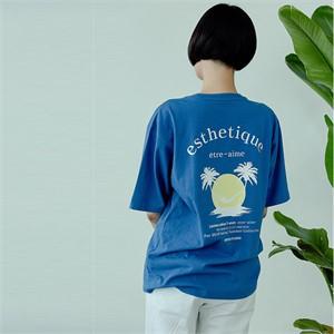 [아르테노] 20s Oversize esthetique t-shirt-BLUE