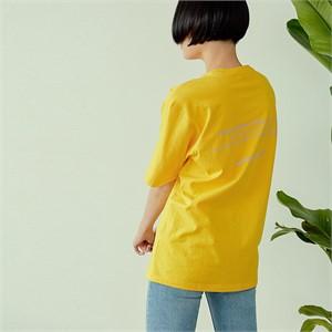 [아르테노] 20s Oversize lettering t-shirt-YELLOW