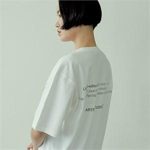 [아르테노] 20s Oversize lettering t-shirt-WHITE