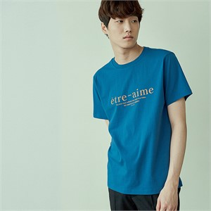 [아르테노] 20s Regular etre-aime t-shirt-BLUE
