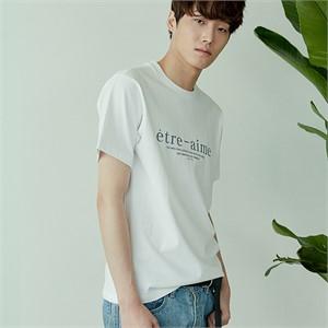 [아르테노] 20s Regular etre-aime t-shirt-WHITE