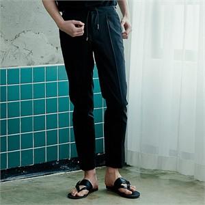 [아르테노] String point slacks-BLACK