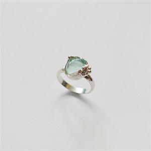 [비베] Glowing Grass Ring  (Silver)