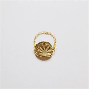 [비베] Oat Chain Ring (Gold)