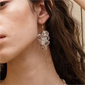 [비베] Clear Pure Grape Earring