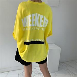 [입다] 오버핏 레터링 박시 반팔 티셔츠