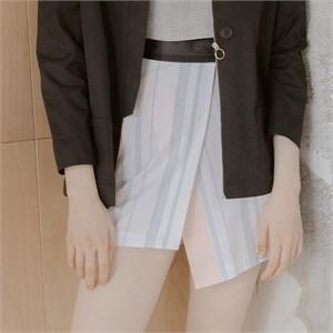 [블레어바이스퀘어] [blair by square] Wrap Skirt (Stripe)