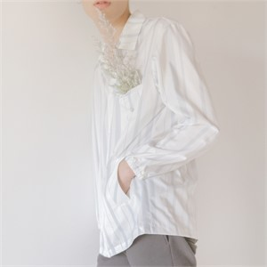 [블레어바이스퀘어] [blair by square] Stripe Poly Shirt