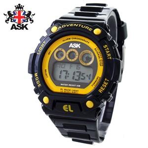 [正品][ASK] SK293G 디지털 우레탄밴드 남성용 시계