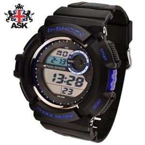[正品][ASK] SK299B 디지털 우레탄밴드 남성용 시계